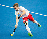 David Goodfield. England v Malaysia - 3rd/4th Playoff - Hockey World League Semi Final, Lee Valley Hockey and Tennis Centre, London, United Kingdom on 25 June 2017. Photo: Simon Parker