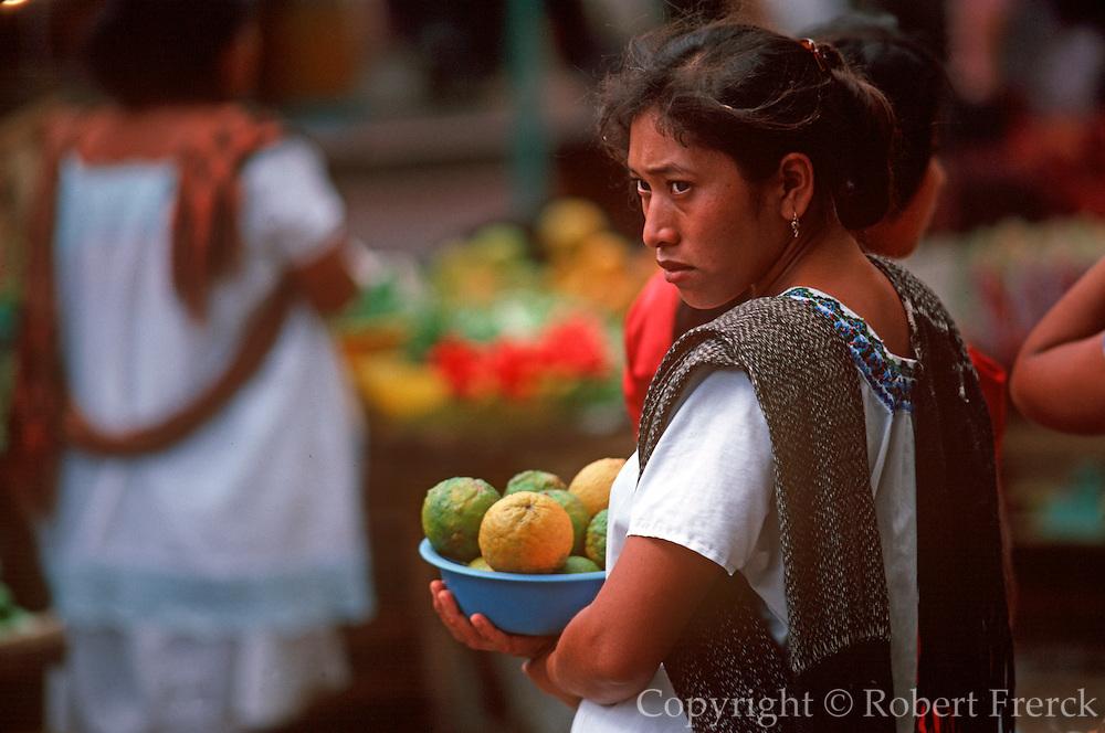 MEXICO, YUCATAN Merida, city market portrait