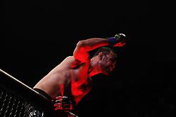 September 23, 2018 - Sao Paulo, Sao Paulo, Brazil - Sao Paulo, Sao Paulo, Brazil - Sep, 2018 - Fighting between fighters ROGERIO MINOTOURO (BRA) and SAM ALVEY (USA) during UFC Fight Night São Paulo, this Saturday (22), at the Ibirapuera gymnasium in São Paulo. (Credit Image: © Marcelo Chello/ZUMA Wire)