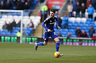Scott Malone of Cardiff city in action. Skybet football league championship match, Cardiff city v Preston NE at the Cardiff city stadium in Cardiff, South Wales on Saturday 27th Feb 2016.<br /> pic by  Andrew Orchard, Andrew Orchard sports photography.