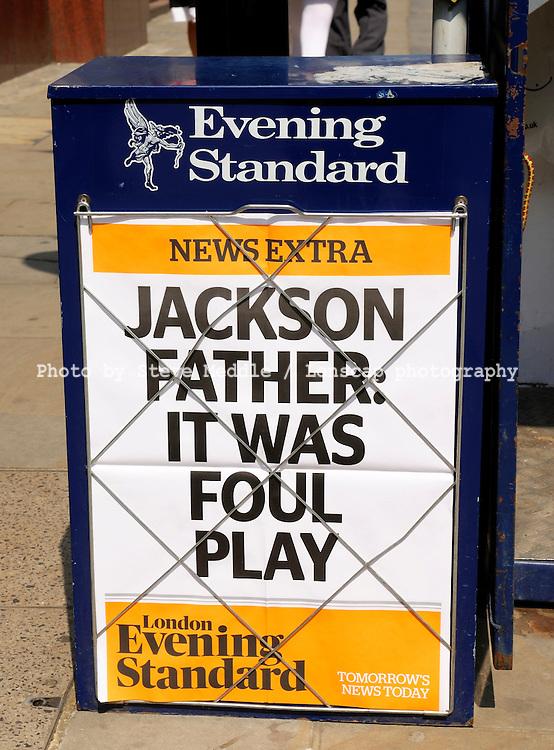Michael Jackson Headline / Evening Standard, London, England