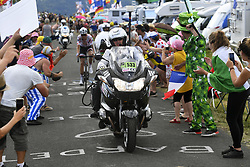 July 16, 2017 - Puy En Velay, France - LE PUY-EN-VELAY, FRANCE - JULY 16 : Illustration picture moto television during stage 15 of the 104th edition of the 2017 Tour de France cycling race, a stage of 189.5 kms between Laissac-Severac l'Eglise and Le Puy-En-Velay on July 16, 2017 in Le Puy-En-Velay, France, 16/07/2017 (Credit Image: © Panoramic via ZUMA Press)