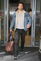 Aidan Turner leaving BBC Radio Two Studios - 15 June 2018