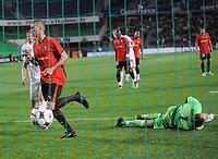 Fotball<br /> Rennes v Stabæk<br /> Foto: DPPI/Digitalsport<br /> NORWAY ONLY<br /> <br /> FOOTBALL - UEFA CUP 2008/2009 - 2ND QUALIFYING ROUND - 2ND LEG - STADE RENNAIS v STABAEK - 28/08/2008 - JOY JEROME LEROY (REN) AFTER HIS 1ST GOAL - JON KNUDSEN
