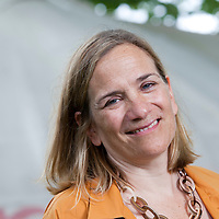 Tracy Chevalier FRSL is an American historical novelist, known for 'Girl with a Pearl Earring', at the Edinburgh International Book Festival 2015. Edinburgh, Scotland. 21st August 2015 <br /> <br /> <br /> Photograph by Gary Doak/Writer Pictures<br /> <br /> WORLD RIGHTS