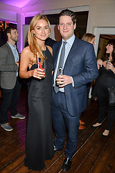INDIA SELLARS and OLLIE GREGORY at a party to celebrate the new partnership of Maids to Measure with Touker Suleyman held in The Winter Marquee, Home House, 20 Portman Square, London on 2nd March 2016.