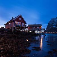 Traditional Norwegian Fishermen's cabins - Rorbu, Valen, Reine, Moskenesøy, Lofoten Islands, Norway