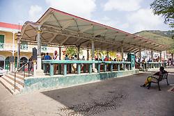 Rothschilld Francis  Market Square.  The Virgin Islands Economic Development Association Enterprise & Commercial Zone Commission hosts a historical tour through the Savan (Savanne) neighborhood.   St. Thomas, US Virgin Islands.  9 July 2015.  © Aisha-Zakiya Boyd