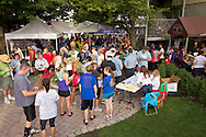 Middletown, New York - People gather to sign up for the 2012 Run 4 Downtown road race and Zumba in the Street event on Saturday, Aug. 18, 2012.