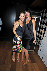 Left to right, HARRIET SCOTT and ASSIA WEBSTER at a party hosted by Stephen Webster at the Alto Club, 15-21 Ganton Street, London on 2nd July 2009.