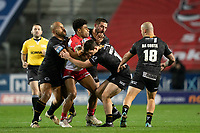 Rugby League - 2020 Betfair Super League - Semi-final - St Helens vs Catalan Dragons - TW Stadium<br /> <br /> St. Helens's Kevin Naiqama is tackled <br /> <br /> COLORSPORT/TERRY DONNELLY