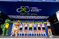 UAE Team with Tadej POGACAR of UAE TEAM EMIRATES and Jan POLANC of UAE TEAM EMIRATES during the 5th Stage of 27th Tour of Slovenia 2021 cycling race between Ljubljana and Novo mesto (175,3 km), on June 13, 2021 in Ljubljana - Novo mesto, Ljubljana - Novo mesto, Slovenia. Photo by Matic Klansek Velej / Sportida