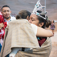 Ashley Reine Claw hugs her mom Alane Claw after being crowned the 2018-2019 Miss Gallup Inter-Tribal Ceremonial Queen at Red Rock Park, Friday August 10, 2018.
