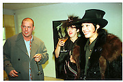 ALEXANDER MCQUEEN; ISABELLA BLOW;; LADY AMANDA HARLECH. VALENTINO SHOP PARTY. SLOANE ST. 1996.<br /> ;SUPPLIED FOR ONE-TIME USE ONLY> DO NOT ARCHIVE. © Copyright Photograph by Dafydd Jones 248 Clapham Rd.  London SW90PZ Tel 020 7820 0771 www.dafjones.com