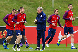 England Manager Roy Hodgson watches over the training session - Mandatory byline: Matt McNulty/JMP - 22/03/2016 - FOOTBALL - St George's Park - Burton Upon Trent, England - Germany v England - International Friendly - England Training and Press Conference