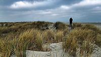 SCHIERMONNIKOOG - Vogelaar in de duinen aan de Noordzee.   ANP COPYRIGHT KOEN SUYK