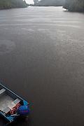 Tropical rain at Rio Negro, Amazon, Brazil