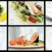 A range of food shots, photographed on location as part of a large hotels, restaurant menu.