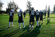 January 28 2016: Team Rice linebackers (L_R) Clay Matthews, Elvis Dumervil, Juluis Peppers, and Bobby Wagner warm up during the Pro Bowl practice at Turtle Bay Resort on North Shore Oahu, HI. (Photo by Aric Becker/Icon Sportswire)
