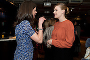 RACHEL MILLWARD; ROMOLA GARAI;- BIRDS EYE VIEW INTERNATIONAL WOMEN'S DAY  RECEPTION, BFI Southbank. London. 8 March 2012.