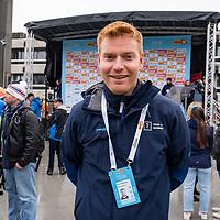 Rittleder Roy Hegreberg under starten i Lyngdal av Tour of Norway sykkelritt etappe 2: Lyngdal - Kristiansand.