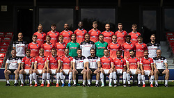 © Licensed to London News Pictures . 29/07/2019. Salford , UK . Team photo . Salford Football Club hold a pre-season photocall at the Peninsula Stadium , Moor Lane . Photo credit : Joel Goodman/LNP