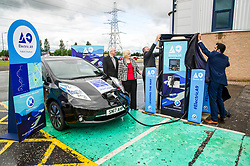 Pictured: Humza Yousaf was joined by officials from Falkirk Council as he unveiled the new branding<br /> <br /> Transport Minister Humza Yousaf spoke to stakeholders today at Falkirk Stadium as he outlined the Electric A9 vision with further support announced. <br /> <br /> <br /> Ger Harley   EEm 20 June 2018