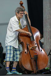 May 3, 2018 - New Orleans, Louisiana, U.S - JAMES SINGLETON during 2018 New Orleans Jazz and Heritage Festival at Race Course Fair Grounds in New Orleans, Louisiana (Credit Image: © Daniel DeSlover via ZUMA Wire)