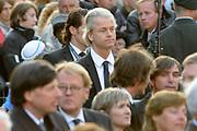 Nationale dodenherdenking op de Dam in Amsterdam .<br /> <br /> Op de foto:<br /> <br />  Geert Wilders