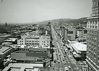 1968 Looking west on Hollywood Blvd. from Ivar St.