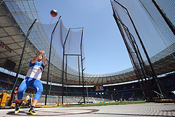 David Soderberg of Finland competes in the men's Hammer Throw qualifying event of the 2009 IAAF Athletics World Championships on August 15, 2009 in Berlin, Germany. (Photo by Vid Ponikvar / Sportida)