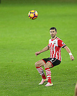 Shane Long of Southampton in action. Premier league match, Swansea city v Southampton at the Liberty Stadium in Swansea, South Wales on Tuesday 31st January 2017.<br /> pic by  Andrew Orchard, Andrew Orchard sports photography.