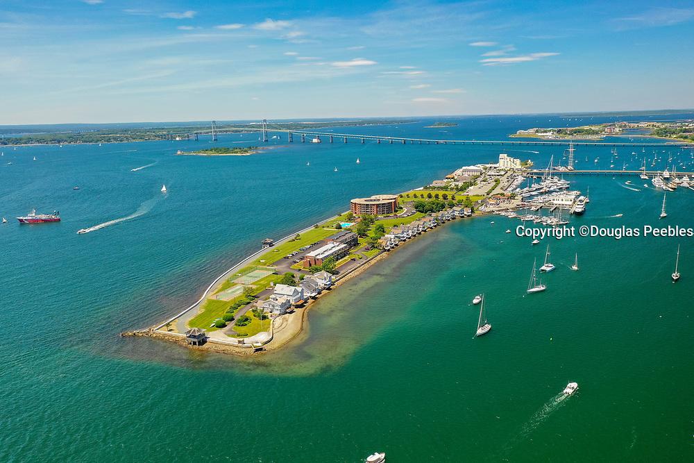 Goat Island, Newport, Harbor, Rhode Island, USA