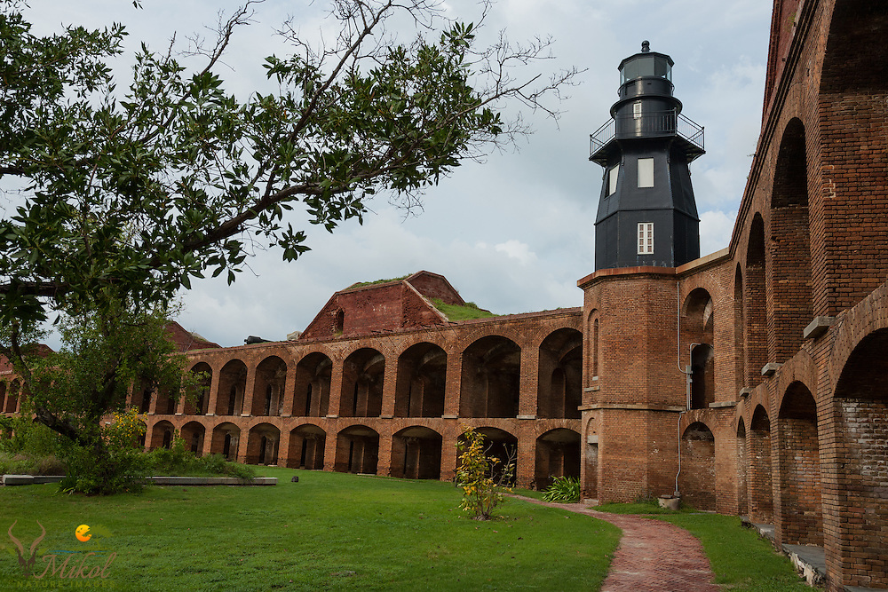 Fort Jefferson and Garden Key Lighthouse Courtyard