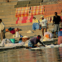 Asia, India, Varanasi. Life along the Ganges River.