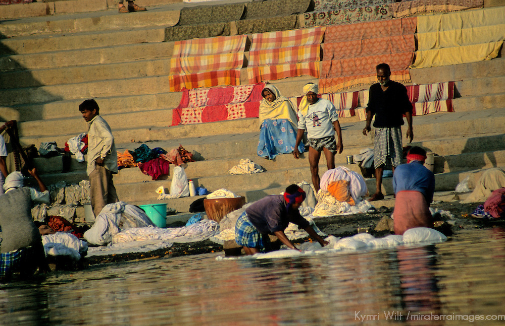 Asia, India, Varanasi. Life along the Ganges River.