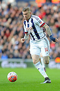 West Brom's James McClean in action. The Emirates FA Cup, 4th round match, West Bromwich Albion v Peterborough Utd at the Hawthorns stadium in West Bromwich, Midlands on Saturday 30th January 2016. pic by Carl Robertson, Andrew Orchard sports photography.