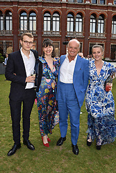 Left to right, Tommy Coleridge, Georgia Coleridge, Nicholas Coleridge and Sophie Coleridge at the Victoria & Albert Museum's Summer Party in partnership with Harrods at The V&A Museum, Exhibition Road, London, England. 20 June 2018.