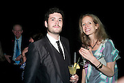 JULIAN SALAUN;  ELEANOR NAIRNE; , The Surreal House Barbican art gallery afterwards SURREAL DINNER at Hoxton hall. London. 9 June 2010. -DO NOT ARCHIVE-© Copyright Photograph by Dafydd Jones. 248 Clapham Rd. London SW9 0PZ. Tel 0207 820 0771. www.dafjones.com.