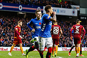 Rangers Captain James Tavernier puts his side in front from the penalty spot during the Ladbrokes Scottish Premiership match between Rangers and Motherwell at Ibrox, Glasgow, Scotland on Sunday 11th November 2018.