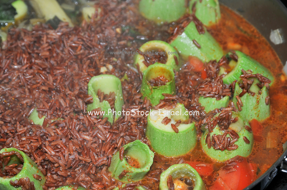 A pot of Brown Rice Stew
