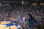 Coreografia tifosi Fortitudo<br /> Kontatto Fortitudo Bologna - Virtus Segafredo Bologna<br /> Lega Nazionale Pallacanestro 2016/2017<br /> Bologna, 14/04/2017<br /> Foto Ciamillo-Castoria / M. Brondi