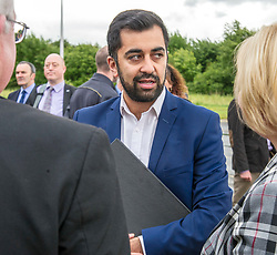 Pictured: Humza Yousaf<br /> <br /> Transport Minister Humza Yousaf spoke to stakeholders today at Falkirk Stadium as he outlined the Electric A9 vision with further support announced. <br /> <br /> <br /> Ger Harley   EEm 20 June 2018