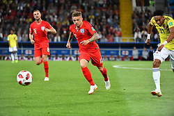 England's Kieran Trippier and Colombia's Johan Mojica during the 1/8 final game between Colombia and England at the 2018 FIFA World Cup in Moscow, Russia on July 3, 2018. Photo by Lionel Hahn/ABACAPRESS.COM