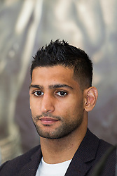 © Licensed to London News Pictures . 25/04/2013 . Sheffield , UK . AMIR KHAN . Final press conference in advance of Amir Khan vs Julio Diaz boxing bout , today (Thursday 25th April 2013) at the Mercure Hotel in Sheffield City Centre ahead of the fight on April 27th at the Motorpoint Arena in Sheffield . Photo credit : Joel Goodman/LNP