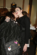 Katie Grand and Erin o'Connor, Alex Shulman of Vogue and Mulberry host a party for Giles Deacon. ( Mulberry for Giles) Mulberry. New Bond St. 20 September 2006. ONE TIME USE ONLY - DO NOT ARCHIVE  © Copyright Photograph by Dafydd Jones 66 Stockwell Park Rd. London SW9 0DA Tel 020 7733 0108 www.dafjones.com