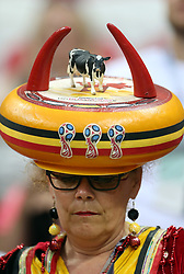 A Belgium fan before the game