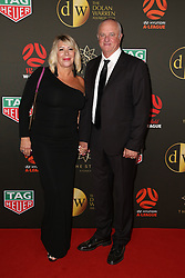 Players from the Westfield W-League and Hyundai A-League arrive on the red carpet for the 2018 Dolan Warren Awards at The Star Event Centre - 80 Pyrmont St, Pyrmont, NSW. 30 Apr 2018 Pictured: Sarah Arnold, Graham Arnold. Photo credit: Richard Milnes / MEGA TheMegaAgency.com +1 888 505 6342