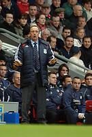 Photo: Paul Greenwood.<br />Liverpool v Manchester City. The Barclays Premiership. 25/11/2006. Liverpool Manager Rafael Benitez