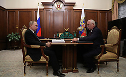 April 27, 2017 - Moscow, Russia - April 27, 2017. - Russia, Moscow. - Russian President Vladimir Putin and Rostec Corporation CEO Sergey Chemezov (right) during a meeting. (Credit Image: © Russian Look via ZUMA Wire)